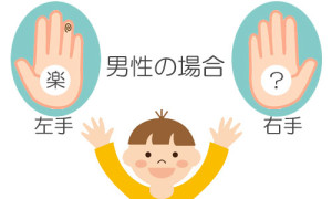 楽_両手紋_男