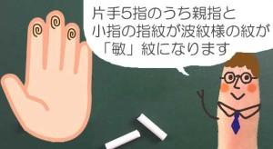独創的な紋「敏」の説明01